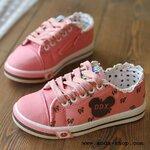 รองเท้าผ้าใบเด็ก สีสดใส น่ารัก (Pre-order)