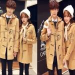 PRE-ORDER เสื้อกันหนาวคู่รัก เสื้อแจ็คเก็ตคลุมยาว(มีฮู้ด)กันหนาวคลุมคู่รักน่ารักๆ ญ/ช.เสื้อแจ็คเก็ตกันหนาว